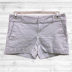 Tommy Hilfiger | White/Gray Striped Shorts | 6